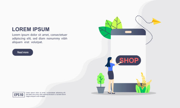 Online Shopping Landing Page Template Graphic Graphic Templates By efosstudio