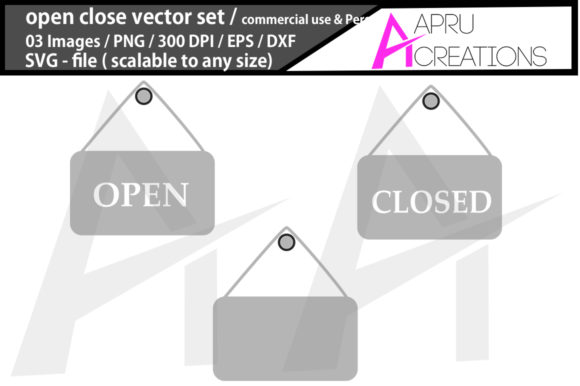 Print on Demand: Open Close Sign Graphic Crafts By aparnastjp