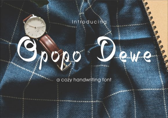 Print on Demand: Opopo Dewe Script & Handwritten Font By little scar