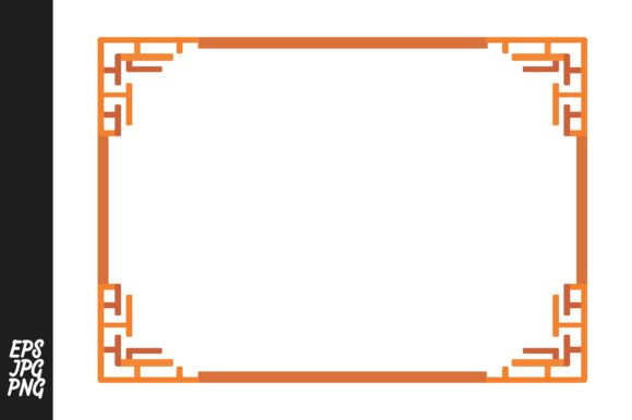 Download Free Orange Ornament Border Graphic By Arief Sapta Adjie Creative for Cricut Explore, Silhouette and other cutting machines.