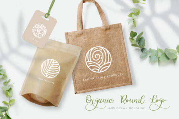 Organic Round Logo Graphic Logos By Happy Letters - Image 2