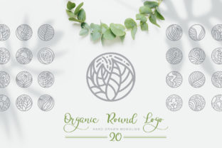 Organic Round Logo Graphic Logos By Happy Letters