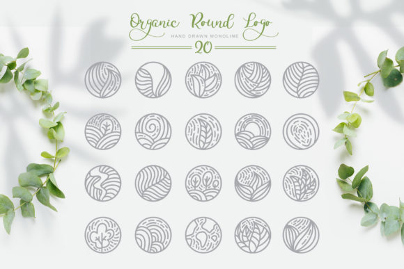 Organic Round Logo Graphic Logos By Happy Letters - Image 5
