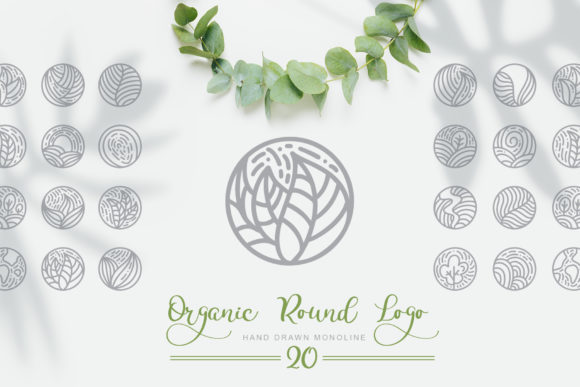 Organic Round Logo Graphic Logos By Happy Letters - Image 1