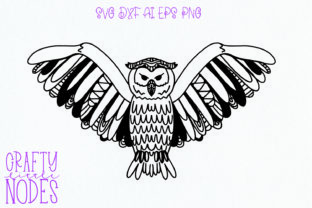 Owl Tangle - a Fun Intricate Owl Design Graphic By Justina Tracy