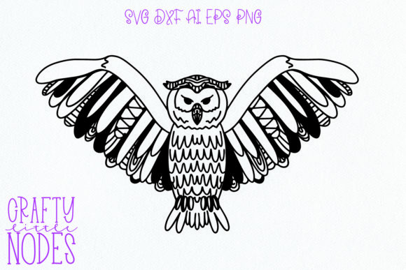 Print on Demand: Owl Tangle - a Fun Intricate Owl Design Graphic Crafts By Justina Tracy