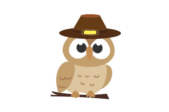 Owl Wearing Pilgrim Hat Thanksgiving Craft Cut File By Creative Fabrica Crafts - Image 1