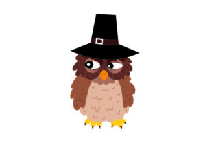 Owl Wearing Pilgrim Hats Thanksgiving Craft Cut File By Creative Fabrica Crafts