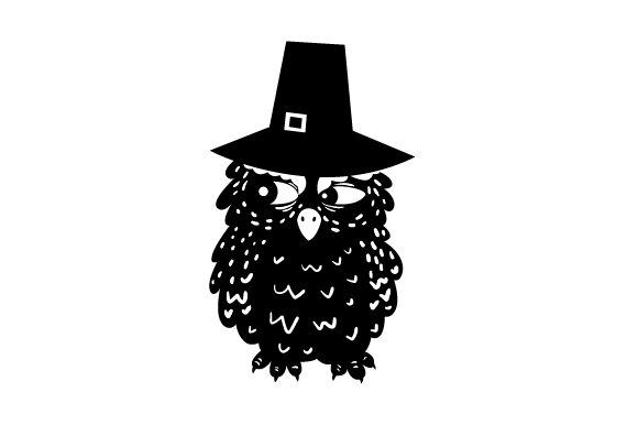 Owl Wearing Pilgrim Hats Thanksgiving Craft Cut File By Creative Fabrica Crafts - Image 2