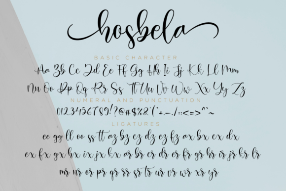Print on Demand: Hosbela Script Script & Handwritten Font By NissaStudio - Image 11
