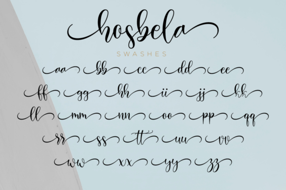Print on Demand: Hosbela Script Script & Handwritten Font By NissaStudio - Image 12