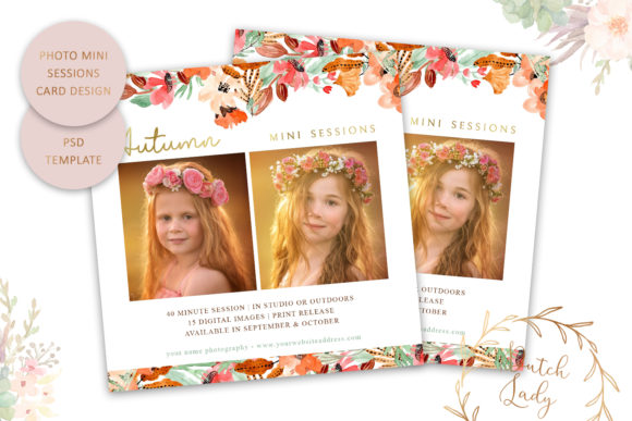 Print on Demand: PSD Photo Session Card Template #46 Graphic Print Templates By daphnepopuliers