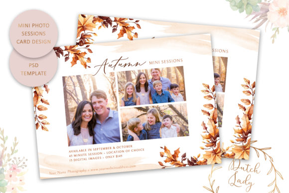 Print on Demand: PSD Photo Session Card Template #48 Graphic Print Templates By daphnepopuliers