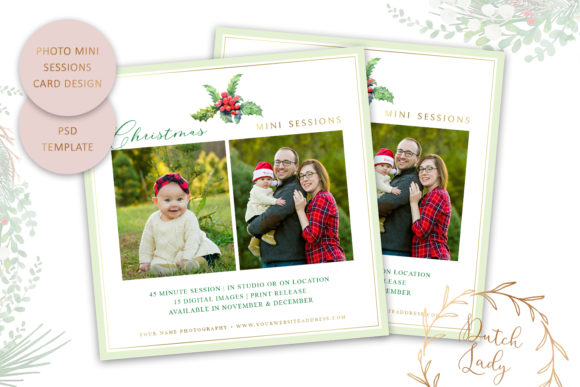 Print on Demand: PSD Photo Session Card Template #49 Graphic Print Templates By daphnepopuliers