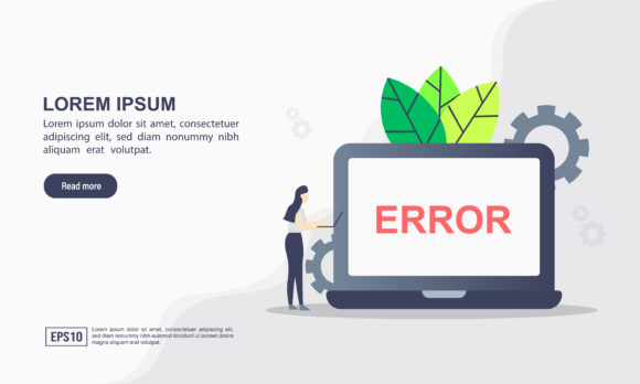 Page Error Landing Page Template Graphic Graphic Templates By efosstudio