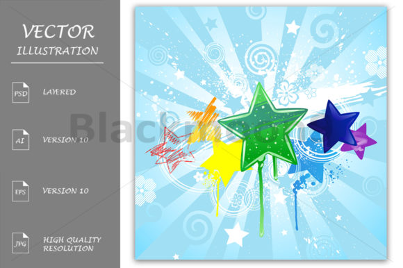 Painted Stars Graphic Illustrations By Blackmoon9