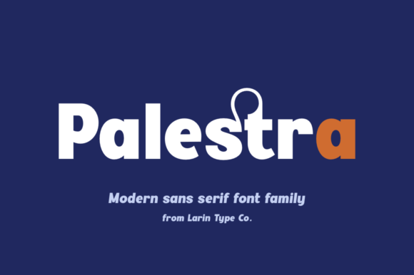 Print on Demand: Palestra Sans Serif Font By Pasha Larin