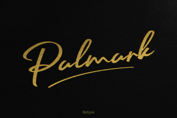 Print on Demand: Palmark Script & Handwritten Font By tkztype