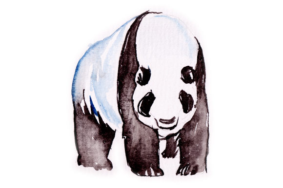 Panda in Watercolor Animals Craft Cut File By Creative Fabrica Crafts - Image 1