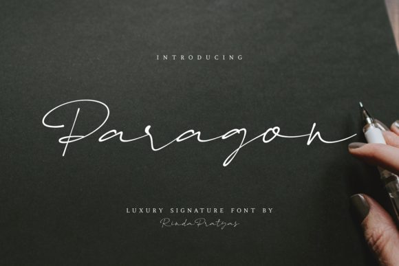 Print on Demand: Paragon Script & Handwritten Font By Rinda Pratyas