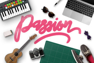 Print on Demand: Passion Script & Handwritten Font By Maulana Creative
