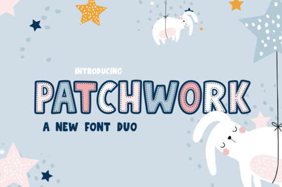 Print on Demand: Patchwork Duo Display Font By Salt & Pepper Designs