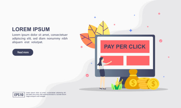 Pay Per Click Landing Page Template Graphic Graphic Templates By efosstudio