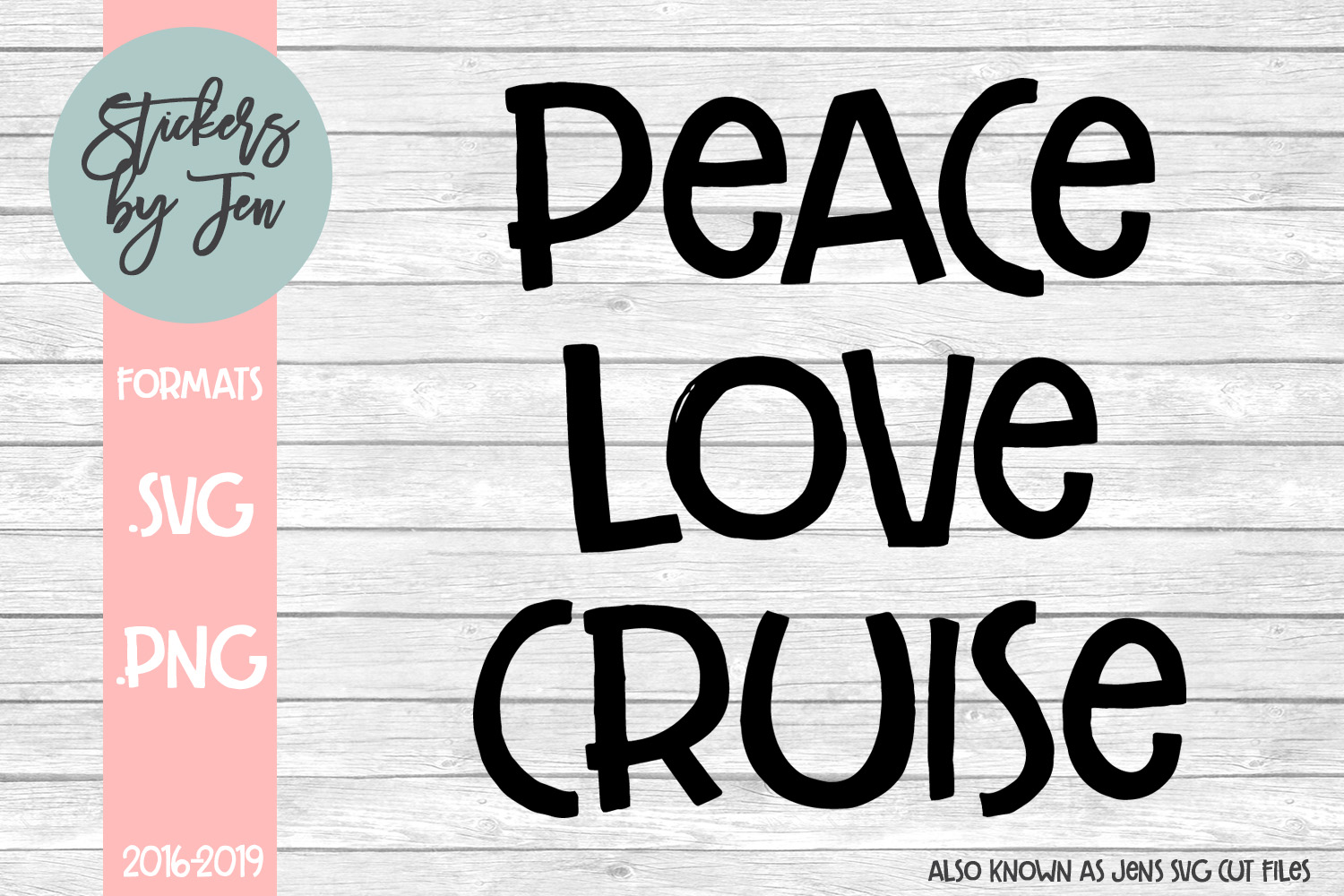 Download Free Peace Love Cruise Graphic By Stickers By Jennifer Creative Fabrica for Cricut Explore, Silhouette and other cutting machines.