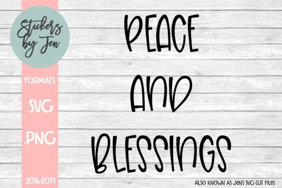 Download Free Peace And Blessing Graphic By Jens Svg Cut Files Creative Fabrica for Cricut Explore, Silhouette and other cutting machines.