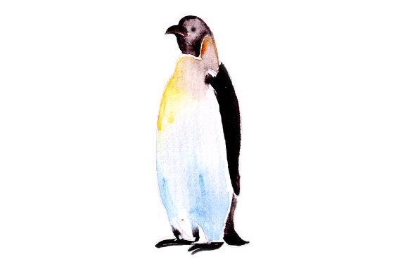 Penguin in Watercolor Animals Craft Cut File By Creative Fabrica Crafts - Image 1