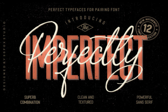 Print on Demand: Perfectly Imperfect Family Script & Handwritten Font By 50Fox