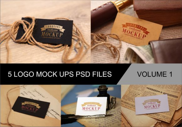 Print on Demand: Photo Realistic Mock-ups Set of 5 V1 Graphic Product Mockups By bywahtung - Image 1