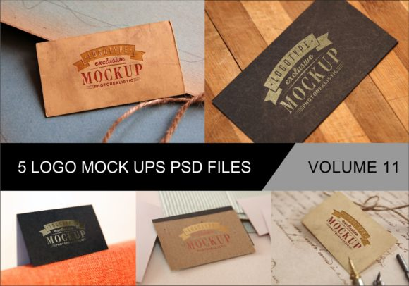 Print on Demand: Photo Realistic Mock-ups Set of 5 V11 Graphic Product Mockups By bywahtung - Image 1