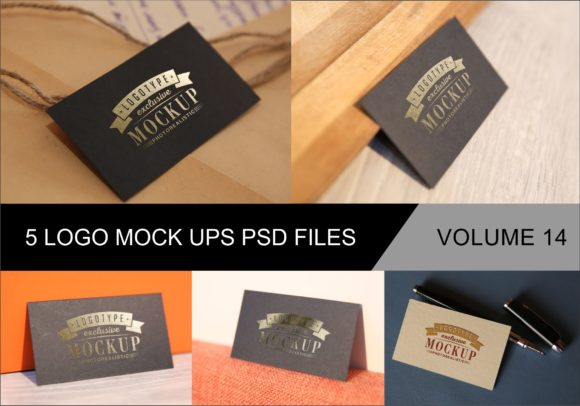 Print on Demand: Photo Realistic Mock-ups Set of 5 V14 Graphic Product Mockups By bywahtung - Image 1