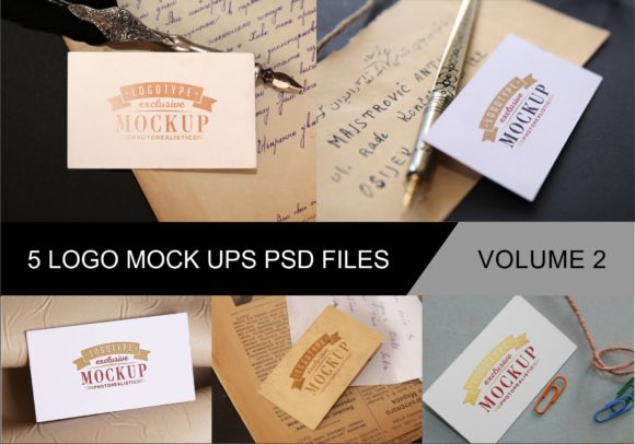 Print on Demand: Photo Realistic Mock-ups Set of 5 V2 Graphic Product Mockups By bywahtung