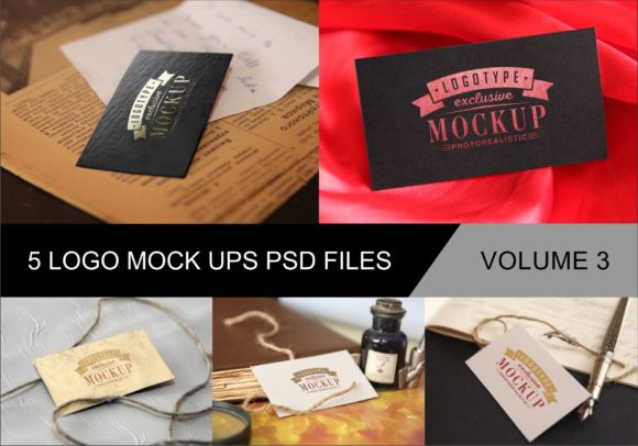Print on Demand: Photo Realistic Mock-ups Set of 5 V3 Graphic Product Mockups By bywahtung - Image 1