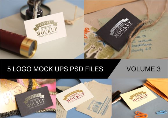 Print on Demand: Photo Realistic Mock-ups Set of 5 V4 Graphic Product Mockups By bywahtung