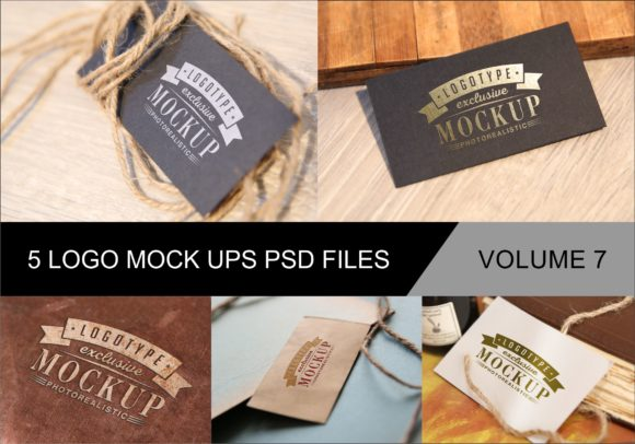 Print on Demand: Photo Realistic Mock-ups Set of 5 V7 Graphic Product Mockups By bywahtung - Image 1