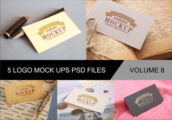 Print on Demand: Photo Realistic Mock-ups Set of 5 V8 Graphic Product Mockups By bywahtung - Image 1
