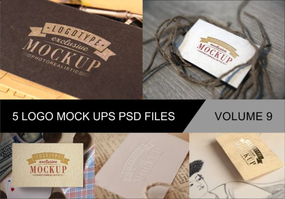 Print on Demand: Photo Realistic Mock-ups Set of 5 V9 Graphic Product Mockups By bywahtung - Image 1