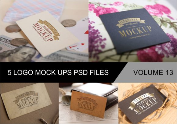 Photo Realistic Mock-ups Set of 5 Vol. 13 Graphic By bywahtung