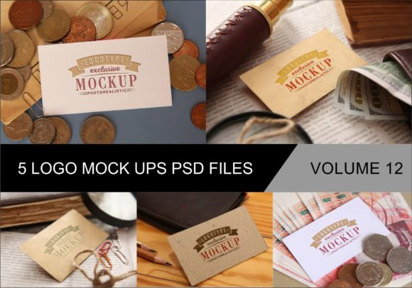 Print on Demand: Photo Realistic Mock-ups Set of 5 Graphic Product Mockups By bywahtung