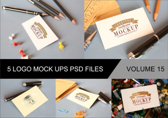 Photo Realistic Mock-ups Set of 5 Graphic