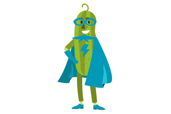 Download Free Pickle Superhero Svg Cut File By Creative Fabrica Crafts for Cricut Explore, Silhouette and other cutting machines.