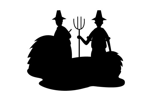 Download Free Pilgrims Farming Thanksgiving Svg Cut File By Creative Fabrica for Cricut Explore, Silhouette and other cutting machines.