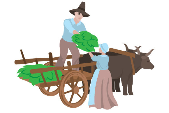 Pilgrims Loading A Cart Svg Cut File By Creative Fabrica Crafts