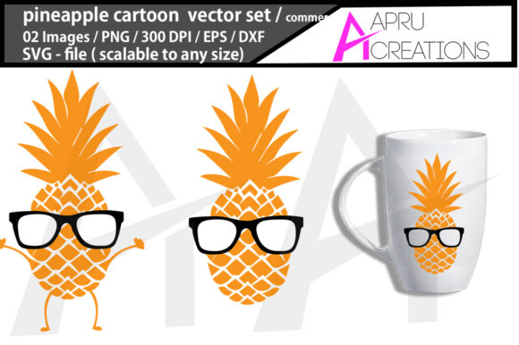 Print on Demand: Pineapple Cartoon Cut File Graphic Crafts By aparnastjp