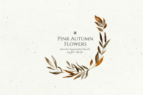 Pink Autumn Flowers Vol. 2 Graphic By webvilla Image 2