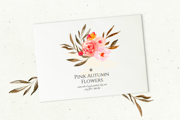 Pink Autumn Flowers Vol. 2 Graphic By webvilla Image 3