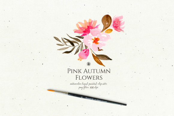 Pink Autumn Flowers Vol. 2 Graphic By webvilla Image 4